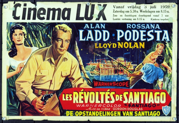 SANTIAGO (1956) 17086 Original Belgian Poster (13x21). Good Condition.