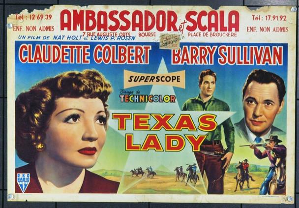TEXAS LADY (1955) 17116 Belgian Original Poster. 14x22. Very Good.