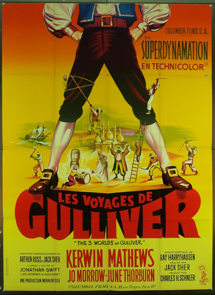 GULLIVER'S TRAVELS (1960) 17303 Original Colombia Pictures French Re-Release One Panel (47x63). Folded. Very fine condition.