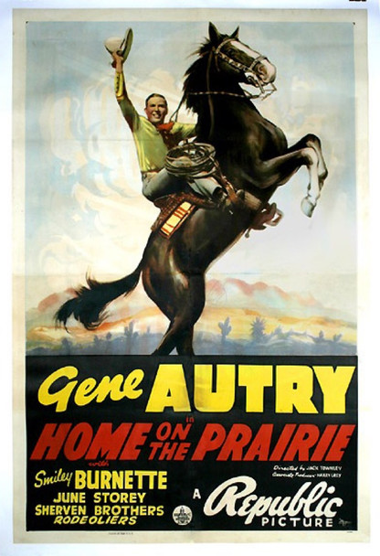 HOME ON THE PRAIRIE (1939) 17368 Original Republic Pictures One Sheet Poster (27x41). Linen-Backed. Good condition.