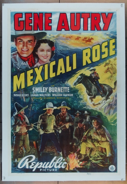 MEXICALI ROSE (1939) 17370 Original Republic Pictures One Sheet Poster (27x41).  Linen-backed.  Very Good Condition.
