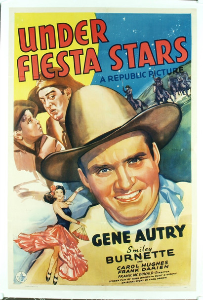 UNDER FIESTA STARS (1941) 17374 Original Republic Pictures One Sheet Poster (27x41).  Linen-backed.   Fine plus condition.