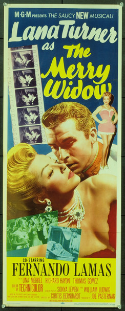 MERRY WIDOW, THE (1952) 17825 Original MGM Insert Poster (14x36). Folded. Very fine condition.