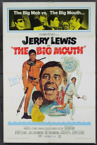 BIG MOUTH, THE (1967) 18509 Original Columbia Pictures One Sheet Poster. Very Fine Plus.