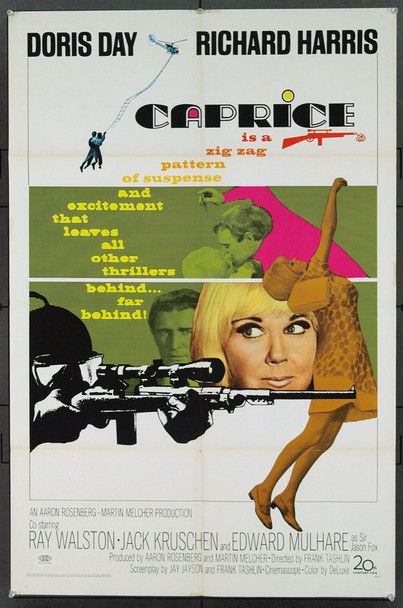 CAPRICE (1967) 18511 Original 20th Century-Fox One Sheet Poster (27x41). Folded.  Very Fine.