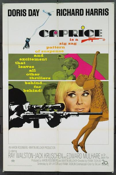 CAPRICE (1967) 18511 Original 20th Century-Fox One Sheet Poster (27x41). Folded.  Very Fine.