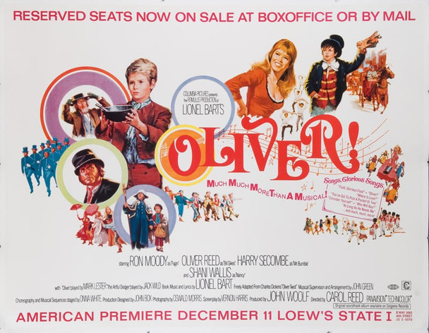 OLIVER! (1968) 19052 Original 2-Panel Subway Advance United States Premiere Poster (45x60).  Linen-backed.  Very good.