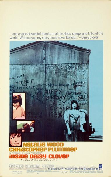 INSIDE DAISY CLOVER (1966) 19133 Original Warner Brothers Window Card (14x22). Very fine plus condition.
