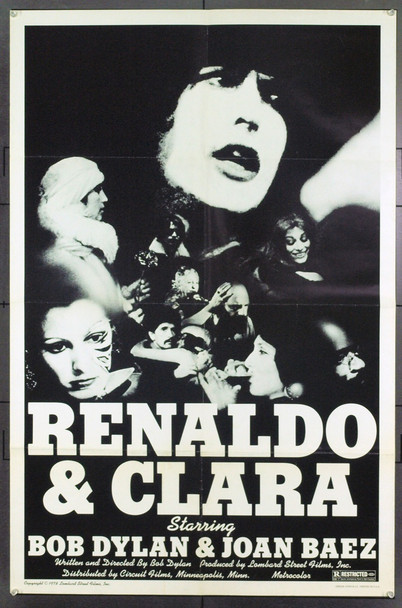 RENALDO AND CLARA (1978) 19417 Lombard Street Films One Sheet Poster (27x41). Folded. Fine Plus.