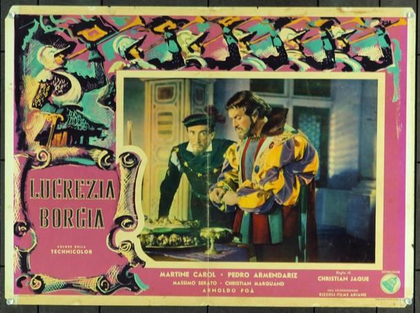 LUCRECE BORGIA (1953) 19425 Original Italian Poster (19x27). Folded.Very good