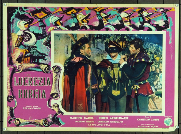 LUCRECE BORGIA (1953) 19426 Original Italian Poster (19x27).   Good condition.