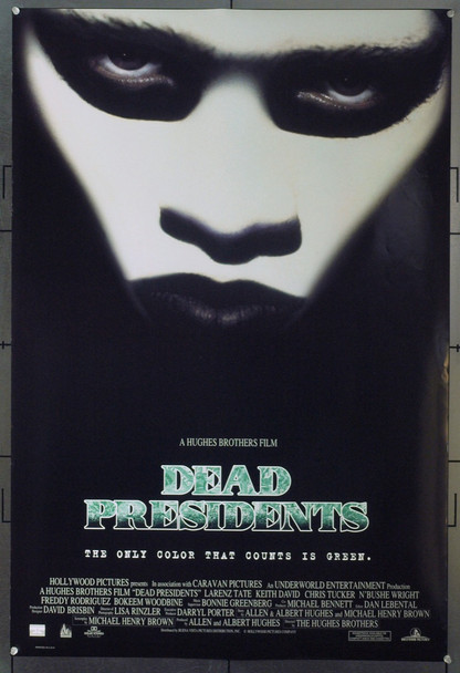 DEAD PRESIDENTS (1995) 19570 Original Buena Vista One Sheet Poster (27x40).  Double sided.  Rolled.  Very Fine Plus.