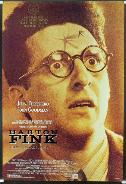 BARTON FINK (1991) 19789 Original 20th Century Fox One Sheet Poster (27x41). Rolled. Double-Sided. Very Good Condition.