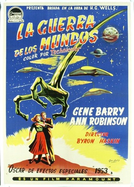 WAR OF THE WORLDS, THE (1953) 19952 War of the Worlds Original Spanish Poster (28x39). Paper-backed. Very fine condition.