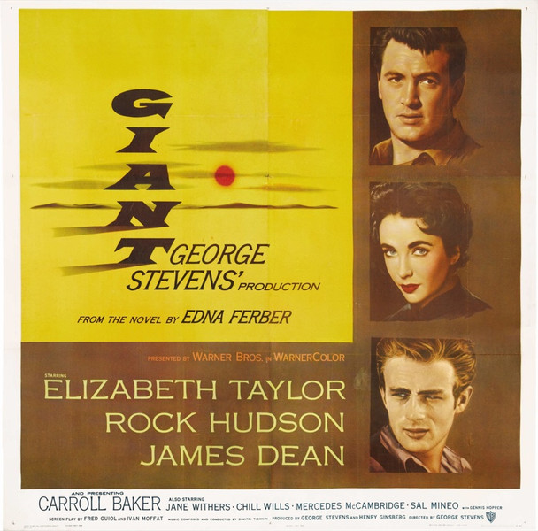 GIANT (1956) 20001 Original Warner Brothers Six Sheet Poster (81x81).  Linen-backed.   Fine condition.