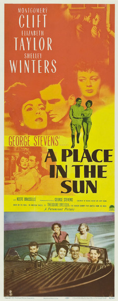 PLACE IN THE SUN, A (1951) 20002 Original Paramount Pictures Insert Poster (14x36). Paper-backed. Fine plus condition.