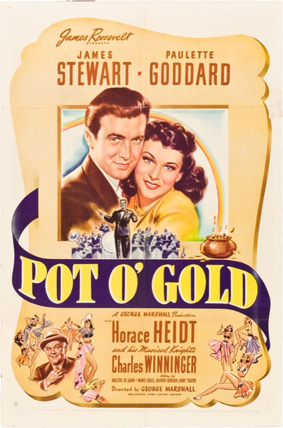 POT O' GOLD (1941) 20015 Original United Artists One Sheet Poster (27x41). Folded. Fine Plus Condition.