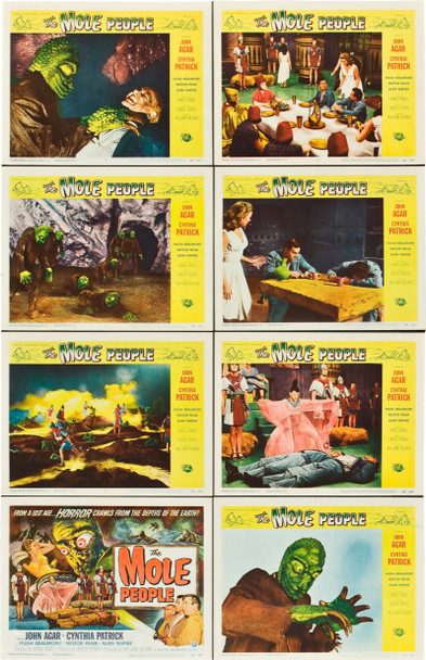 MOLE PEOPLE, THE (1956) 20025 Original Universal Pictures Lobby Card Set (11x14).  Very fine minus condition.