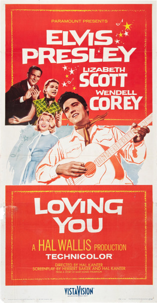 LOVING YOU (1957) 20052 LOVING YOU Original Paramount Pictures Three Sheet Poster (41x81). Fine condition.