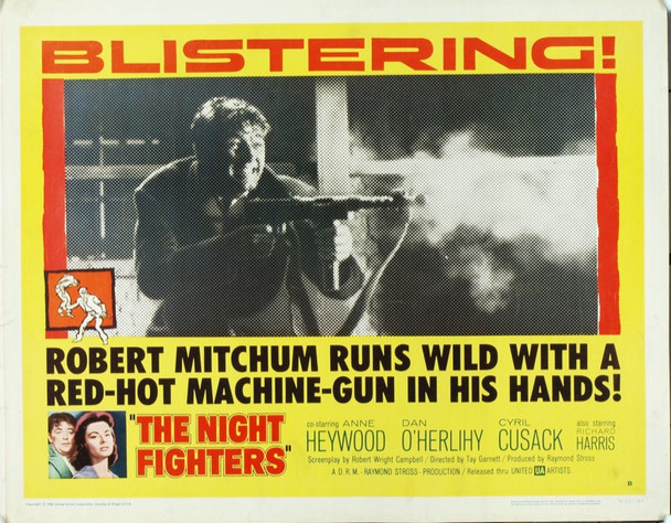 NIGHT FIGHTERS (1960) 20094 Original United  Artists Half Sheet Poster (22x28). Rolled. Very good condition.