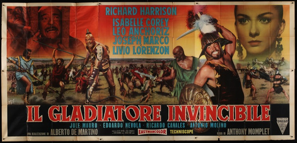 GLADIATORE INVINCIBILE, IL (1962) 20118 Original Italian Poster ( 78 x 165). Folded. Very fine condition.