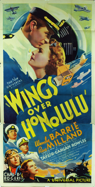 WINGS OVER HONOLULU (1937) 20155 Original Universal Pictures Three Sheet Poster (41x81). Unused. Fine plus condition.