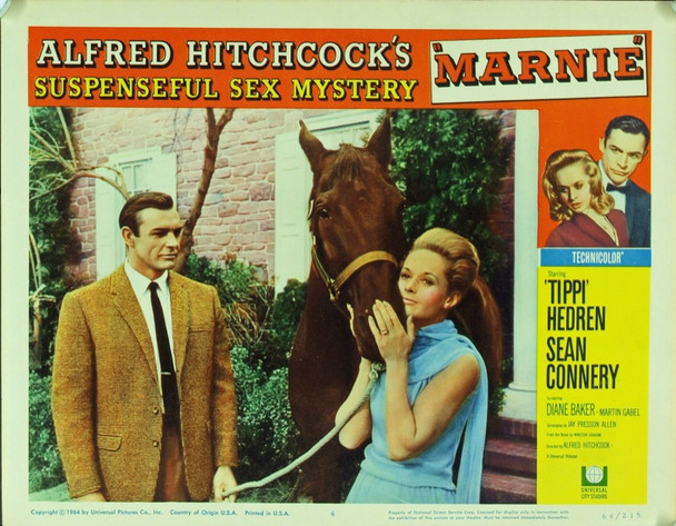 MARNIE (1964) 20187 Original Universal Pictures Scene Lobby Card (11x14). Very fine condition.