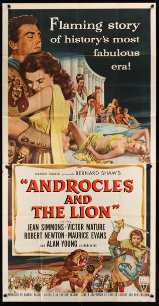 ANDROCLES AND THE LION (1952) 20385 Original RKO Three Sheet Poster (41x81). Folded.  Fine Condition.