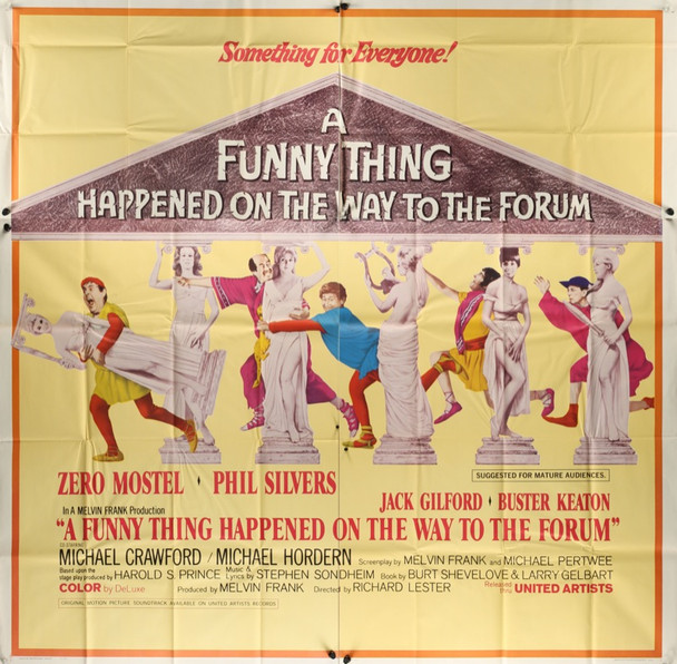 FUNNY THING HAPPENED ON THE WAY TO THE FORUM, A (1966) 20389 Original United Artists Six Sheet Poster (81x81). Folded.  Very fine plus condition.