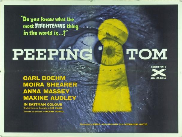 PEEPING TOM (1961) 20390 Original Anglo Amalgamated Film Distributors British Quad Poster (30x40).  Folded . Very fine.