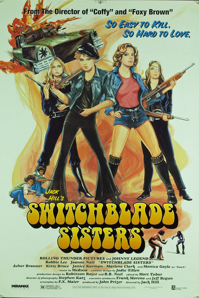 SWITCHBLADE SISTERS (1975) 20424 Special Art House 1996 Re-release One Sheet Poster (27x40).  Rolled.  Very fine condition.