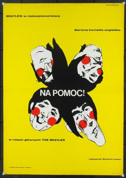 HELP! (1965) 20455 Original Polish One Sheet Poster (23x32).  Eryk Lipinski art. Folded.  Fine plus condition.
