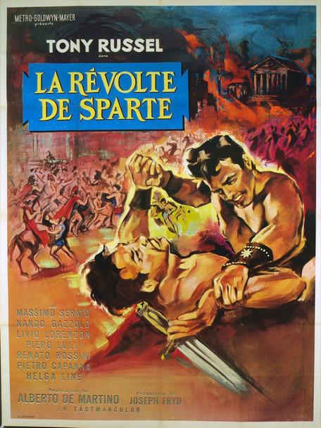 RIVOLTA DEI SETTE, LA (1964) 20463 Original French Grande Poster (47x63). Folded. Very fine plus condition.
