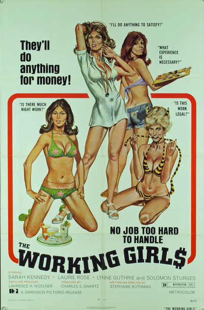 WORKING GIRLS, THE (1974) 20535 THE WORKING GIRLS (1974) U.S. One sheet poster.