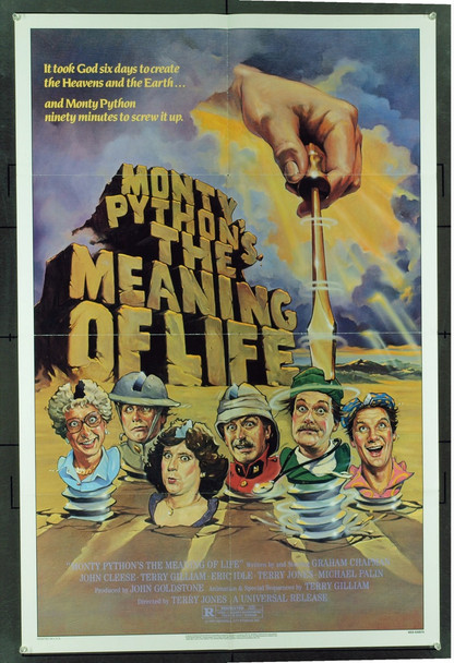 MONTY PYTHON'S THE MEANING OF LIFE (1983) 20545 Original Universal Pictures One Sheet Poster (27x41).  Folded.  Very Fine Condition.