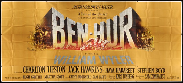 BEN-HUR (1959) 20580 Original MGM Twenty Four Sheet Poster (9ft x 20ft). Unused. Very Fine Condition.