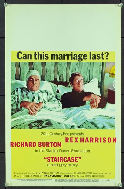 STAIRCASE (1969) 20582 Original 20th Century-Fox Window Card (14x22).  Near Mint Condition.