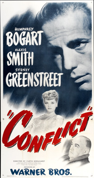 CONFLICT (1945) 19357 Original Warner Brothers Three Sheet Poster (41x81). Very fine condition.