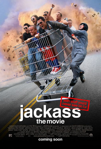JACKASS: THE MOVIE (2002) 20681 Original Paramount Pictures one sheet poster (27x40). Rolled. Double-sided. Very Fine Plus Condition.