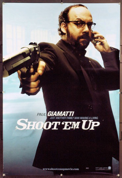 SHOOT 'EM UP (2007) 20709 Original New Line Cinema Style C Advance One Sheet Poster (27x40). Paul Giamatti. Rolled. Very Fine Plus.