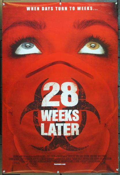 28 WEEKS LATER  (2007) 20711 Original 20th Century-Fox One Sheet Poster (27x41). Rolled. Very Fine Plus.