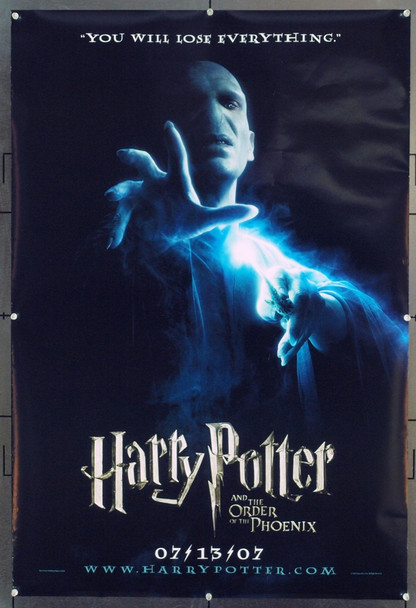 HARRY POTTER AND THE ORDER OF THE PHOENIX (2007) 20718 Original Warner Brothers Advance One Sheet Poster (27x40). Unfolded. Very Fine.