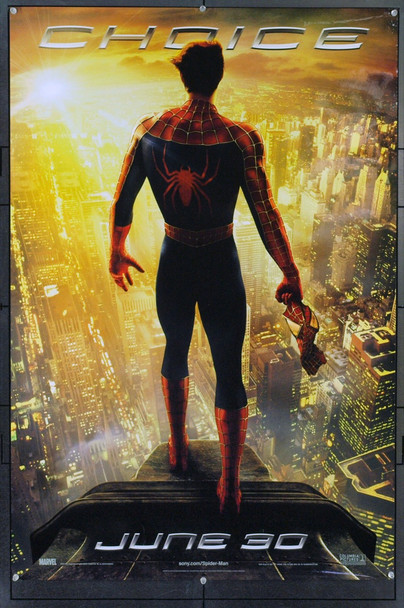SPIDER-MAN 2 (2004) 20721 Original Columbia Pictures Advance Style C One Sheet Poster (27x40). Double-Sided. Rolled. Very Fine Condition.
