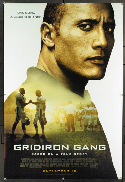 GRIDIRON GANG (2006) 20723 Original Columbia Pictures Style A One Sheet Poster (27x40).  Rolled.  Very Fine.