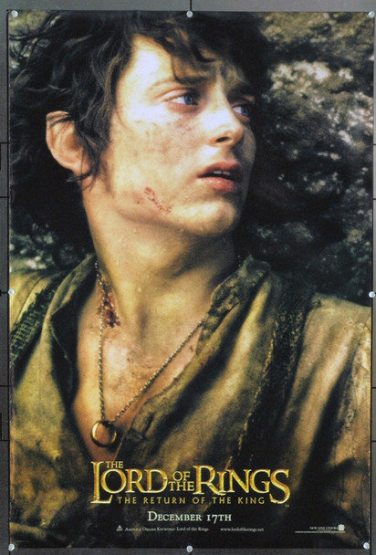 LOTR: THE RETURN OF THE KING (2003) 20744 Original New Line Cinema Style A Advance One Sheet Poster of Elijah Wood (27x40). Double-Sided. Rolled. Very Fine.