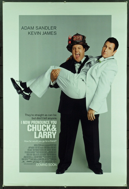I NOW PRONOUNCE YOU CHUCK & LARRY (2007) 20750 Original Universal Pictures Advance One Sheet Poster (27x41). Double-Sided. Rolled. Very Fine Condition.