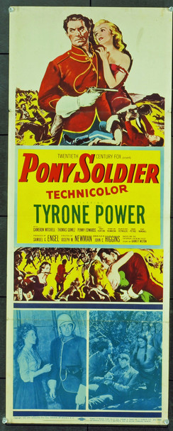 PONY SOLDIER (1952) 20763 Original 20th Century-Fox Insert Poster. Very Fine Condition.