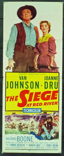 SIEGE AT RED RIVER, THE (1954) 20764 Original 20th Century-Fox Insert Poster (14x36).  Folded. Very Fine Condition.