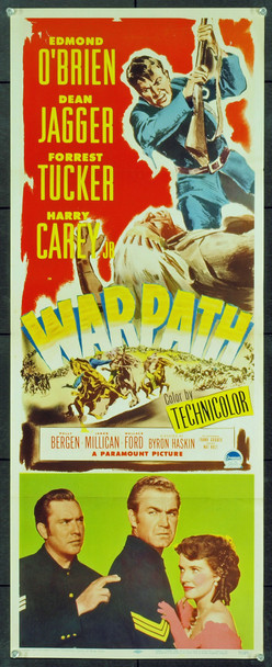 WARPATH (1951) 20768 Original Paramount Pictures Insert Poster (14x36). Very Fine Condition.