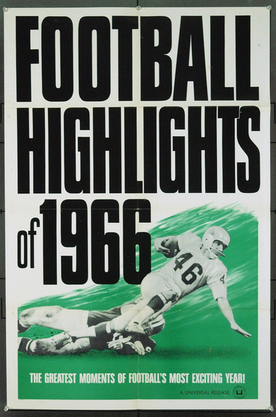 FOOTBALL HIGHLIGHTS OF 1966 (1966) 20841 Original Universal One Sheet Poster. Very Fine Plus